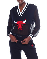 NBA MLB NFL Gear - Bulls Interlock & Mesh Half & Half V-Neck-2356910