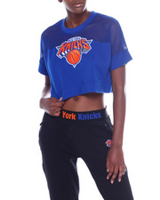 Tops - Knicks Interlock & Mesh Crop Top-2356963
