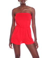 Fashion Lab - Tube Romper W/Ruched Side-2360505