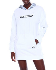 Black Pyramid - Reflective Hoodie Dress-2358627