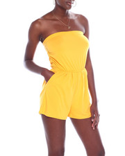 Fashion Lab - Tube Romper W/Ruched Side-2360479