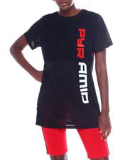 Black Pyramid - Split Race Mesh T-Shirt Dress-2358852