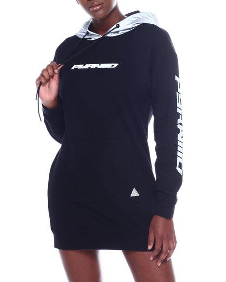 Black Pyramid - Reflective Hoodie Dress