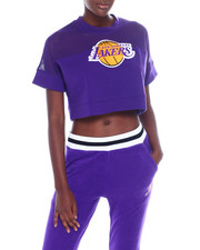 Tops - Lakers Interlock & Mesh Crop Top-2356943