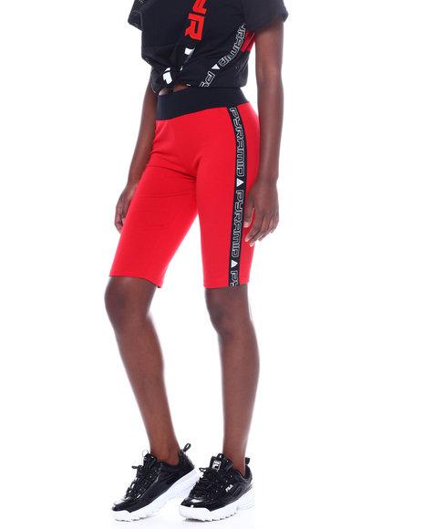 Black Pyramid - Side Tape Race Biker Shorts