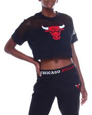 Tees - Bulls Interlock & Mesh Crop Top-2356915