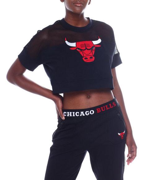 Fisll - Bulls Interlock & Mesh Crop Top