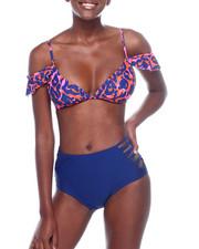 Spring-Summer-W - Off Shldr Frill Bikini Top & HI Wst Cage SD Bikini Bottom-2360524