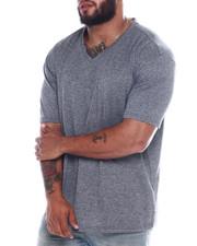 Big & Tall - Melange V-Neck S/S Tee Shirt (B&T)-2360425