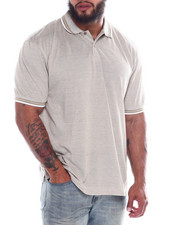 Big & Tall - Melange Polo W/Tipping (B&T)-2360401