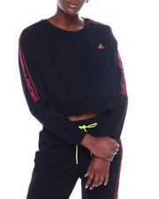 Sweatshirts - Moto Cropped L/S Crew Neck Top-2357184