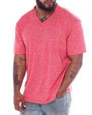 Big & Tall - Melange V-Neck S/S Tee Shirt (B&T)-2360433