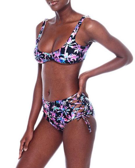 Fashion Lab - Reversible Bikini Top & Strappy HI Wst Bikini