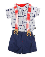 Duck Duck Goose - Nautical Print 3Pc Pants Set (0-9Mo)-2355955