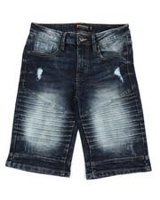 Boys - Biker Stretch Denim Shorts (8-20)-2360364