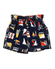 Boys - Printed Swim Trunks W/ Drawcords (2T-4T)-2360310