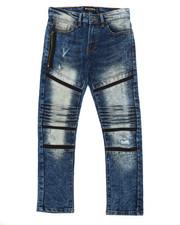 Boys - Stretch Biker Denim Jeans (8-20)-2360452