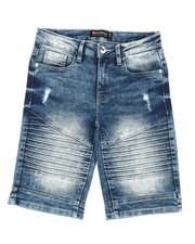 Boys - Biker Stretch Denim Shorts (8-20)-2360353