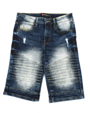 Boys - Biker Stretch Denim Shorts (8-20)-2360342