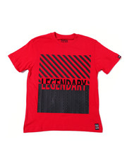 Sizes 8-20 - Big Kids - Solid Crew Neck Jersey w/ Studed PU Leather Patch Tee (8-20)-2360859