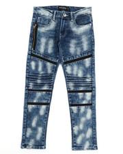 Boys - Stretch Biker Denim Jeans (8-20)-2360386