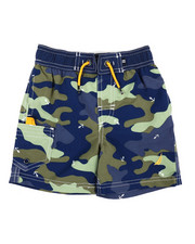 Boys - Camo Printed Swim Trunks (2T-4T)-2360323