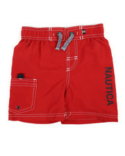 Swimwear - Swim Trunks W/ Marled Drawstrings (2T-4T)-2360319