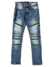 Boys - Stretch Biker Denim Jeans (8-20)-2360437