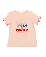 Girls - Dream Chaser Ruffle Tee (7-16)-2358377