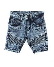 Shorts - Washed Stretch Moto Denim Shorts (2T-4T)-2359999