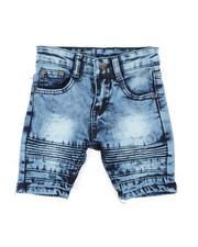 Shorts - Washed Stretch Moto Denim Shorts (2T-4T)-2359866