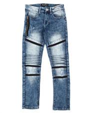 Boys - Stretch Biker Denim Jeans (8-20)-2360463