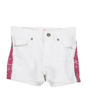 Girls - Side Pink Sequins Taping Shorts (7-16)-2358485