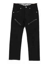 Arcade Styles - Stretch Twill Moto Pants W/ Zippers (4-7)-2359874