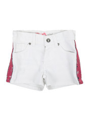 Girls - Side Pink Sequins Taping Shorts (4-6X)-2358504