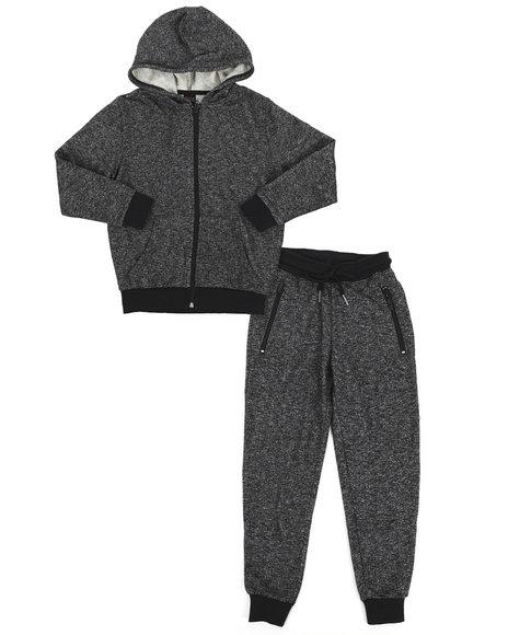 Arcade Styles - Marled Hoodie & Sweatpants Set (8-20)