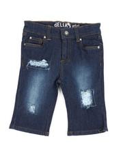 Delia's Girl - Bermuda Denim Shorts W/ Sequins (7-16)-2358515
