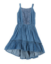 BCBGirls - Denim Lace Insert Dress (2T-4T)-2360017