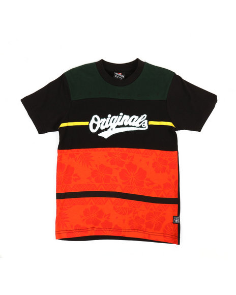 Southpole - Cut & Sew Tee W/ Chenille Patch (8-20)