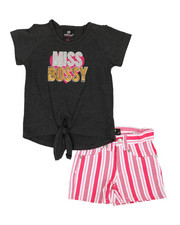 Dollhouse - 2 Pc Tee & Shorts Set (4-6X)-2357470