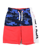 Swimwear - Nautica Logo Swim Trunks (8-20)-2360086