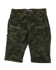 Phat Farm - Stretch Moto Camo Denim Shorts (8-20)-2359838