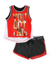 Girls - 2 Pc Active Tank & Shorts Set (2T-4T)-2357483