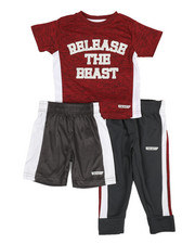 HIND - 3 Pc Graphic Tee, Shorts & Pants Set (2T-4T)-2350772