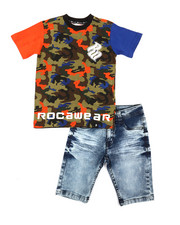 Rocawear - 2Pc Denim Short Set (4-7)-2357517