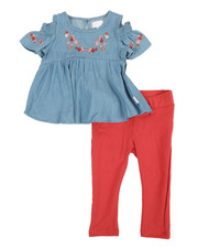 BCBGirls - 2 Pc Chambray Top & Leggings Set (Infant)-2357616