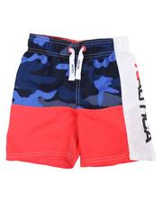 Swimwear - Nautica Logo Swim Trunks (4-7)-2360305