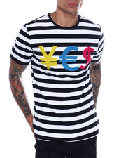 Hudson NYC - STONED STRIPED CURRENCY TEE-2361669