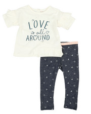 BCBGirls - 2 Pc Ruffle Top & Leggings Set (2T-4T)-2357586