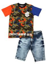 Rocawear - 2Pc Denim Short Set  (8-20)-2357341